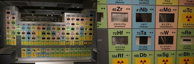 주기율표와 원소가 함께 전시돼 있다. - 도쿄=이우상 기자 idol@donga.com 제공